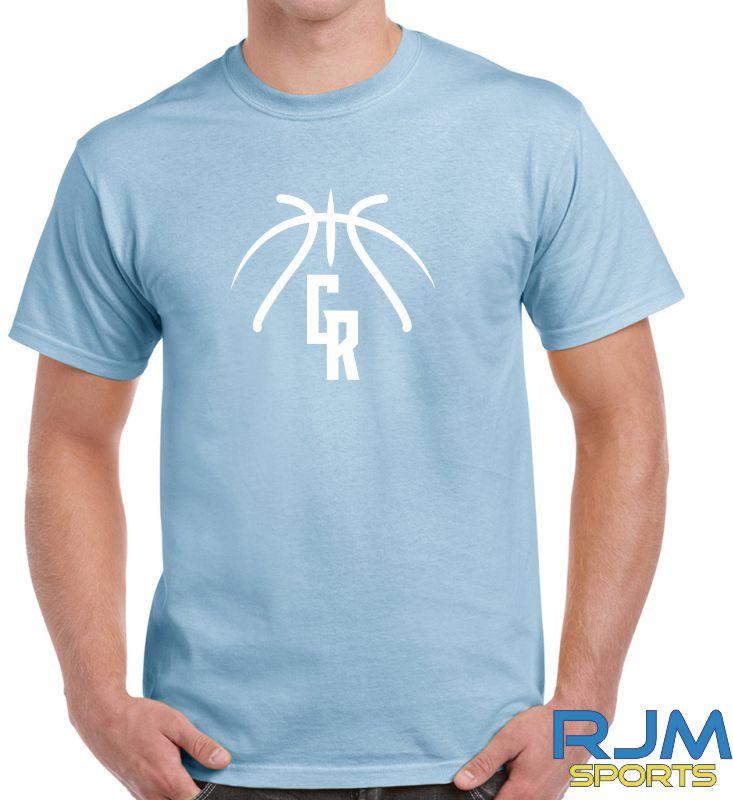 Glasgow Rocks Gildan GR Baskeball T-Shirt Light Blue