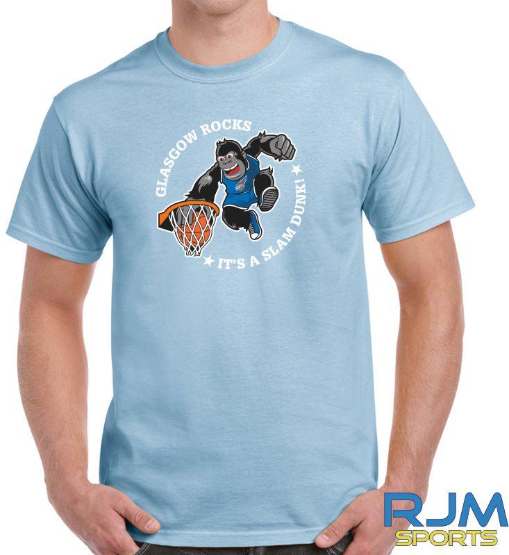 Glasgow Rocks Gildan It's A Slam Dunk T-Shirt Light Blue