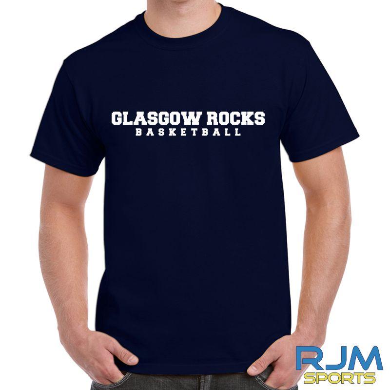 Glasgow Rocks Gildan Glasgow Rocks Basketball T-Shirt Navy