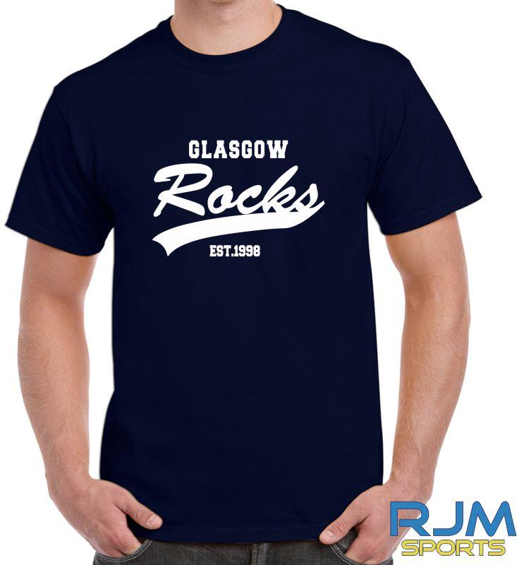 Glasgow Rocks Gildan Glasgow Rocks Est 1998 T-Shirt Navy