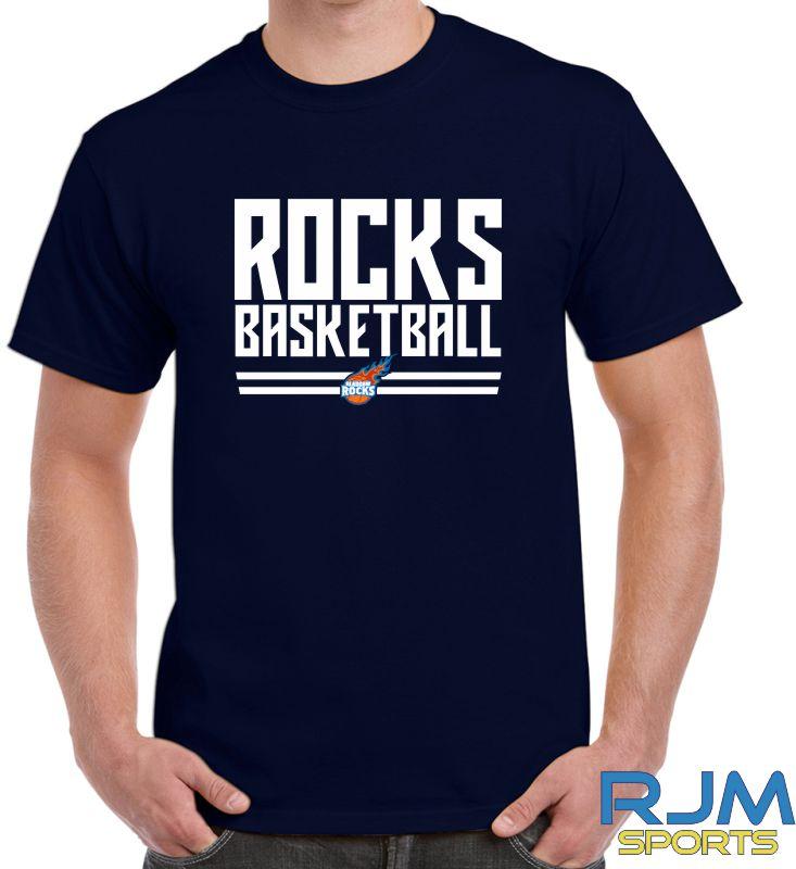 Glasgow Rocks Gildan Rocks Basketball T-Shirt Navy