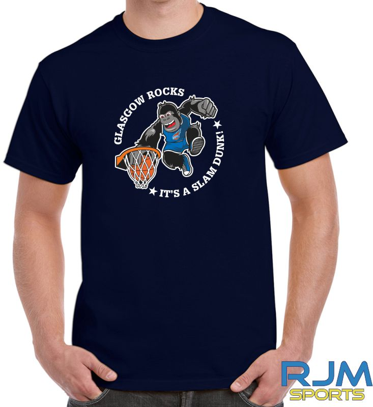 Glasgow Rocks Gildan It's A Slam Dunk T-Shirt Navy