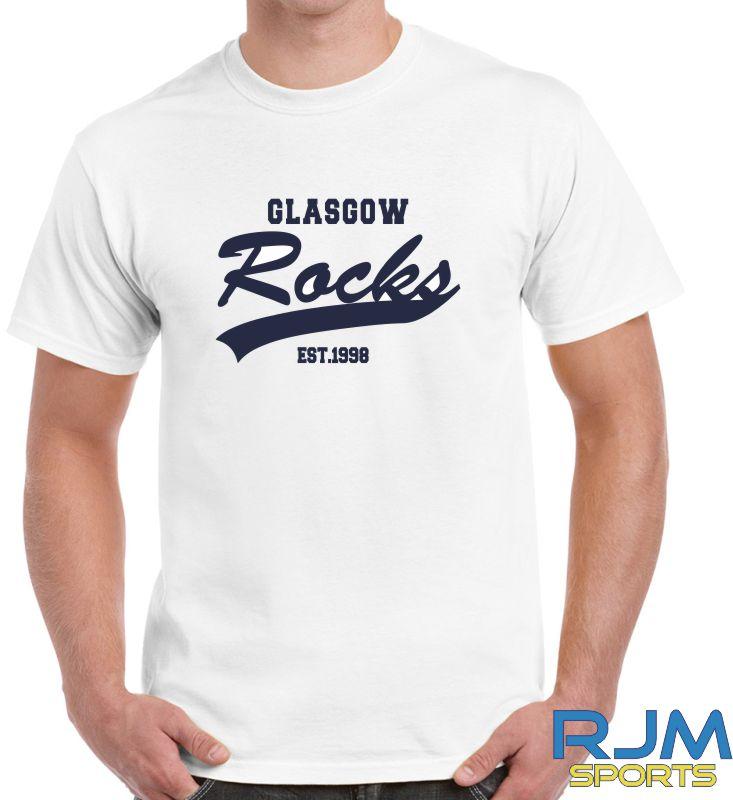 Glasgow Rocks Gildan Glasgow Rocks Est 1998 T-Shirt White