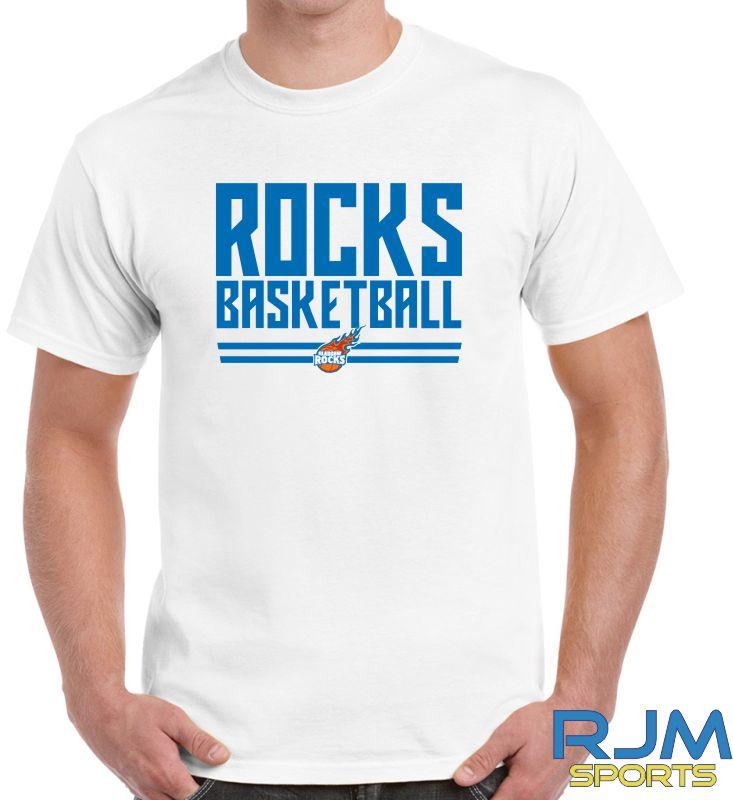 Glasgow Rocks Gildan Rocks Basketball T-Shirt White