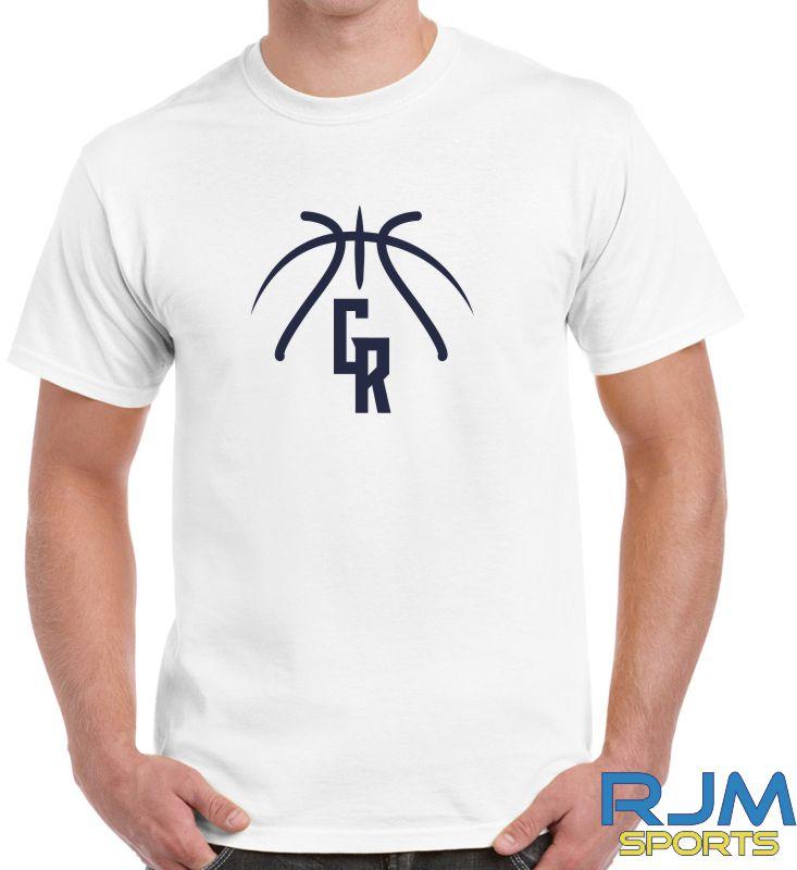 Glasgow Rocks Gildan GR Baskeball T-Shirt White