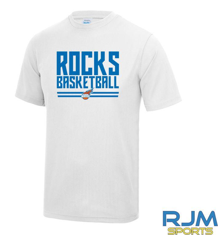 Glasgow Rocks AWDis Rocks Basketball T-Shirt White