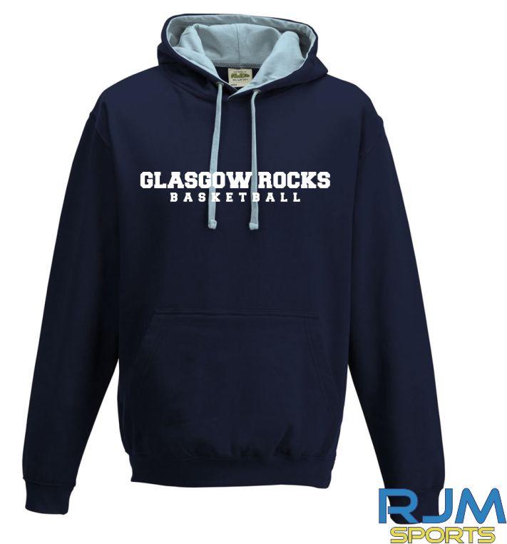 Glasgow Rocks AWDis Glasgow Rocks Basketball Hoody French Navy/Sky Blue