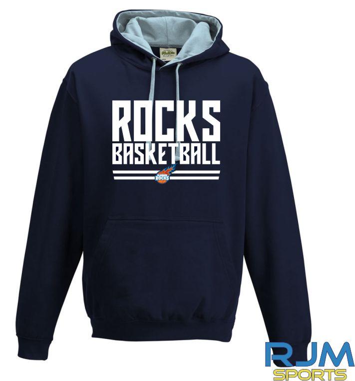 Glasgow Rocks AWDis Rocks Basketball Hoody French Navy/Sky Blue