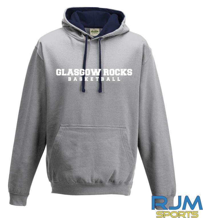 Glasgow Rocks AWDis Glasgow Rocks Basketball Hoody Heather Grey/French Navy