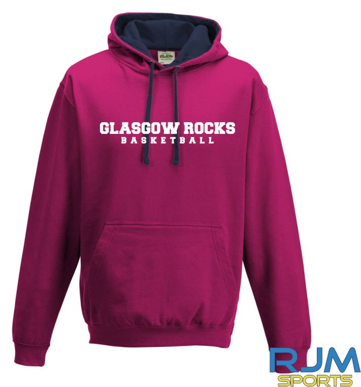 Glasgow Rocks AWDis Glasgow Rocks Basketball Hoody Hot Pink/French Navy