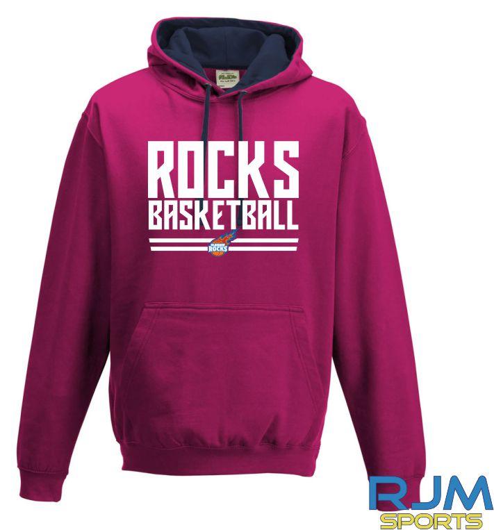 Glasgow Rocks AWDis Rocks Basketball Hoody Hot Pink/French Navy