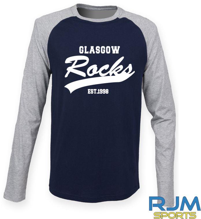 Glasgow Rocks SF Long Sleeve Glasgow Rocks Est 1998 T-Shirt Oxford Navy/Heather Grey
