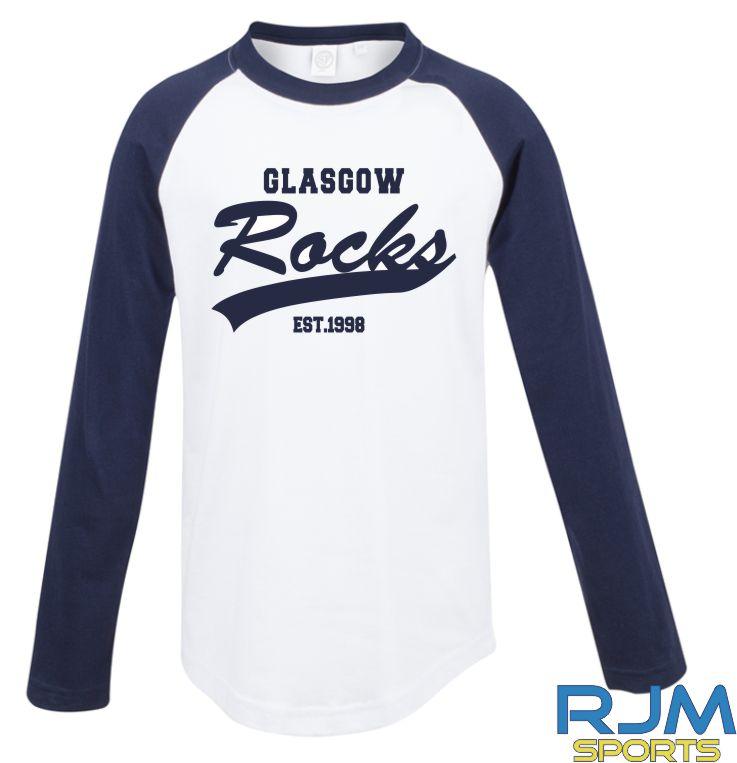 Glasgow Rocks SF Long Sleeve Glasgow Rocks Est 1998 T-Shirt White/Oxford Navy