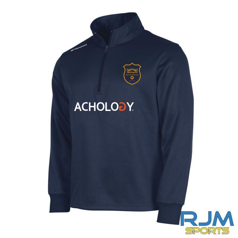 Ratho Utd Stanno Field Quarter Zip Navy 2011/12/13/14 (Achology)