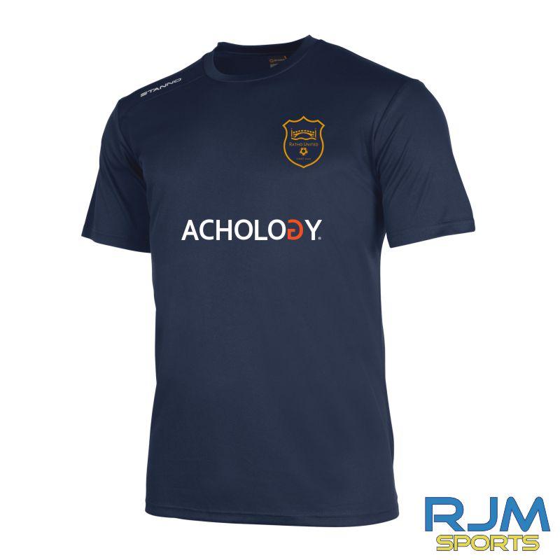 Ratho Utd Stanno Field Short Sleeve Shirt Navy (Achology)