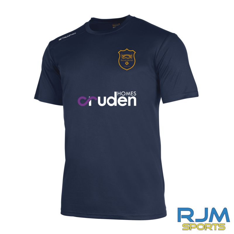 Ratho Utd Stanno Field Short Sleeve Shirt Navy 2013/14 (Cruden Homes)