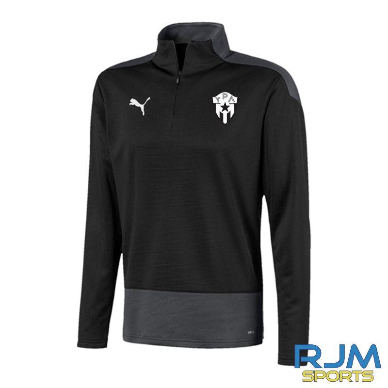 Young Pumas Puma Goal Quarter Zip Black