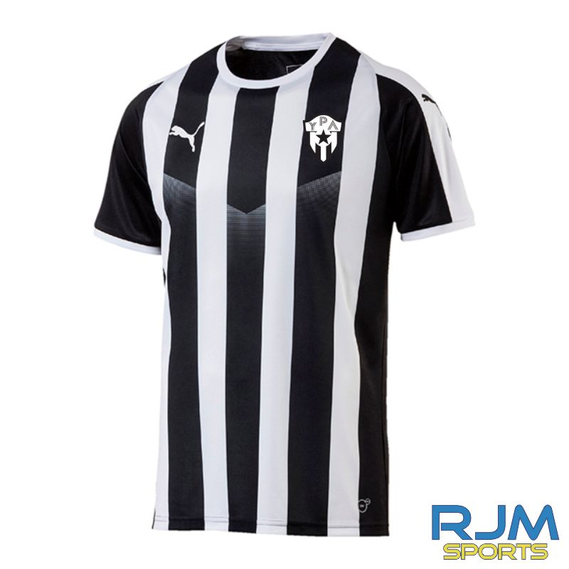 Young Pumas Puma Liga Strip Short Sleeve Shirt Black/White