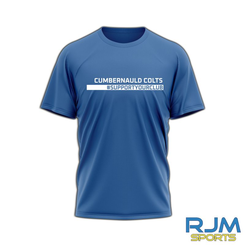 Cumbernauld Colts #SupportYourClub T-Shirt Royal