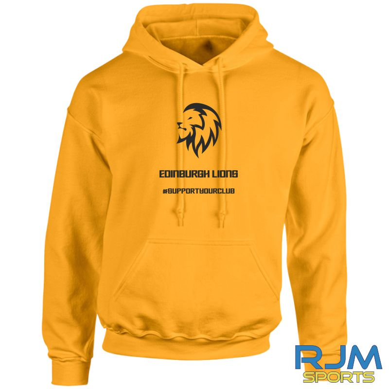 Edinburgh Lions #SupportYourClub Hoody Gold