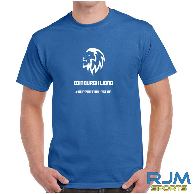 Edinburgh Lions #SupportYourClub T-Shirt Royal