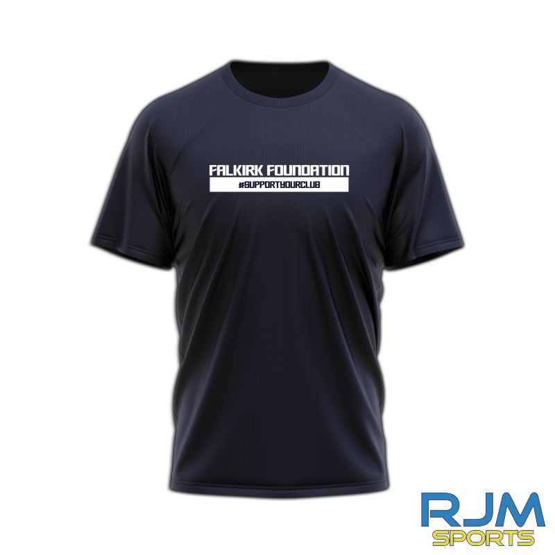 Falkirk Foundation #SupportYourClub T-Shirt Navy