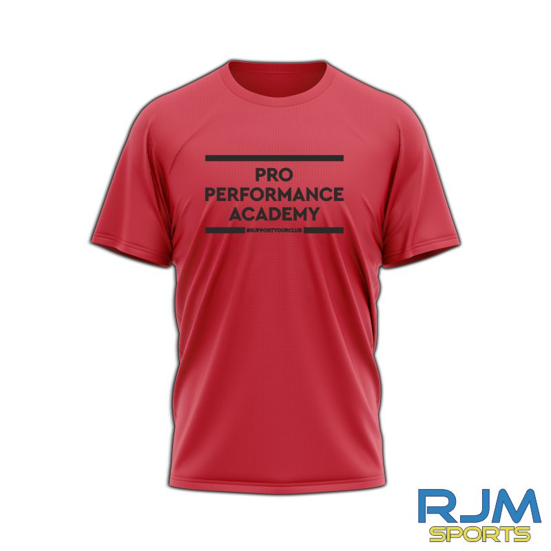 Pro Performance Academy #SupportYourClub T-Shirt Red
