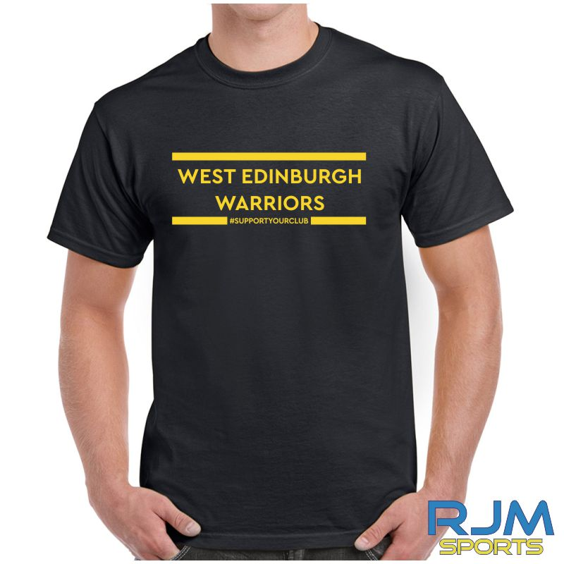 West Edinburgh Warriors #SupportYourClub T-Shirt Black