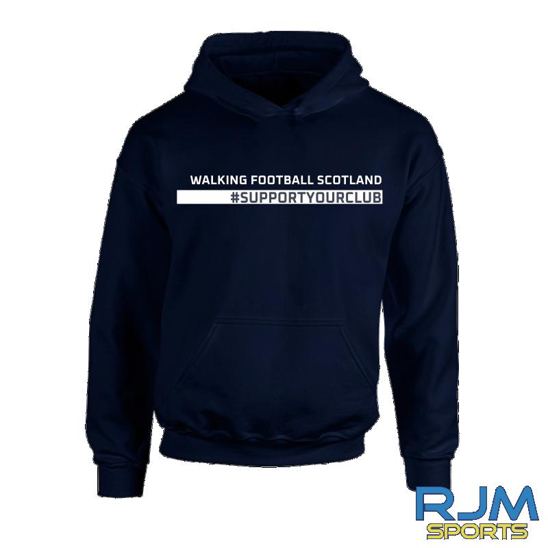 Walking Football Scotland #SupportYourClub Hoody Navy
