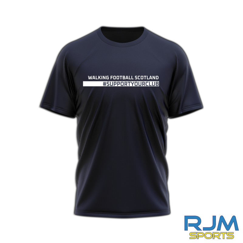 Walking Football Scotland #SupportYourClub T-Shirt Navy