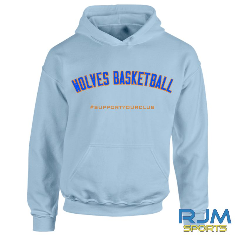 West Lothian Wolves #SupportYourClub Hoody Sky Blue