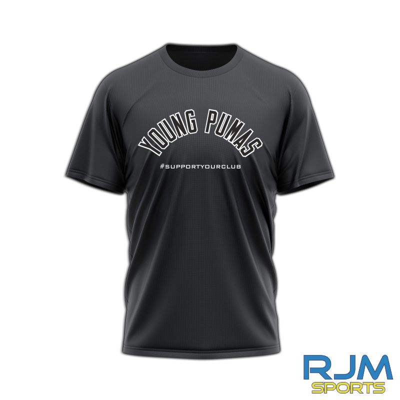 Young Pumas #SupportYourClub T-Shirt Black