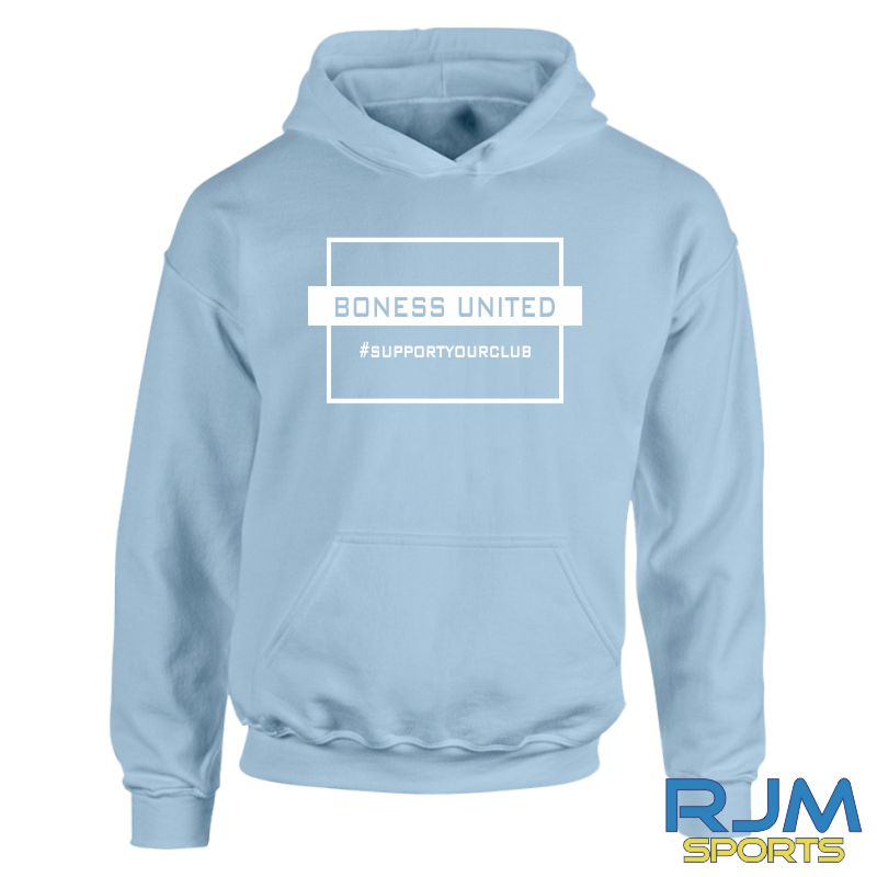 Bo'ness United FC #SupportYourClub Hoody Sky Blue
