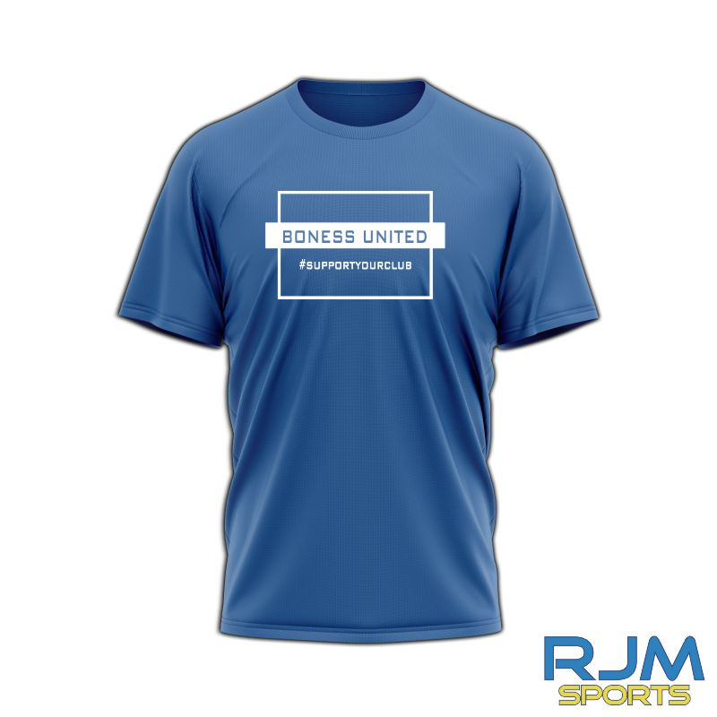 Bo'ness United FC #SupportYourClub T-Shirt Royal