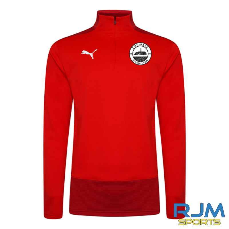 Dunipace FC Players Puma Goal 1/4 Zip Red