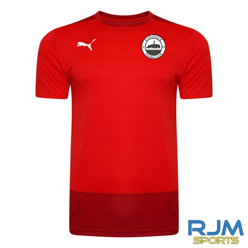 Dunipace FC Players Puma Goal Training Jersey Red