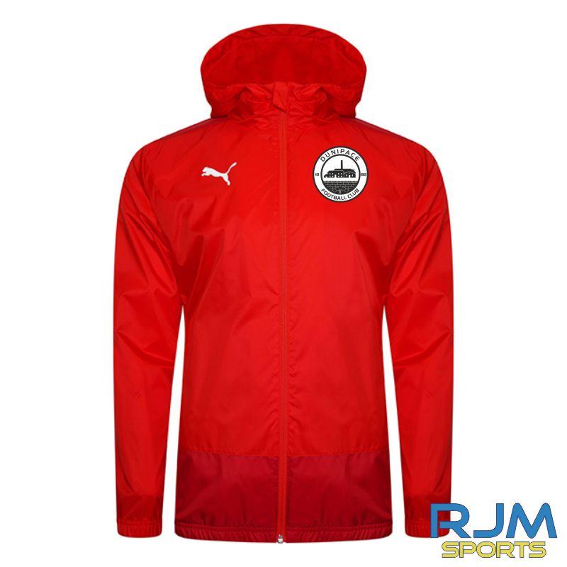 Dunipace FC Players Puma Goal Rain Jacket Red