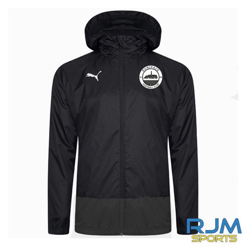 Dunipace FC Coaches Puma Goal Rain Jacket Black