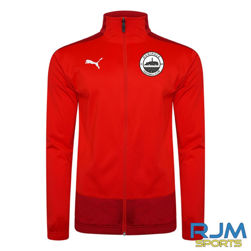 Dunipace FC Players Puma Goal Training Jacket Red