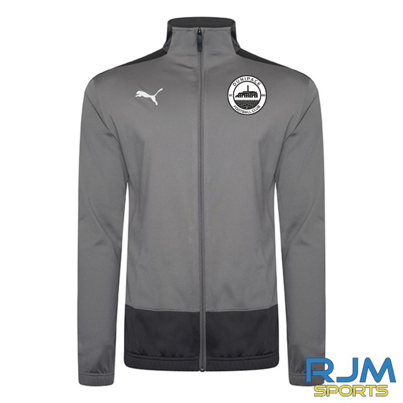 Dunipace FC Coaches Puma Goal Training Jacket Steel Grey