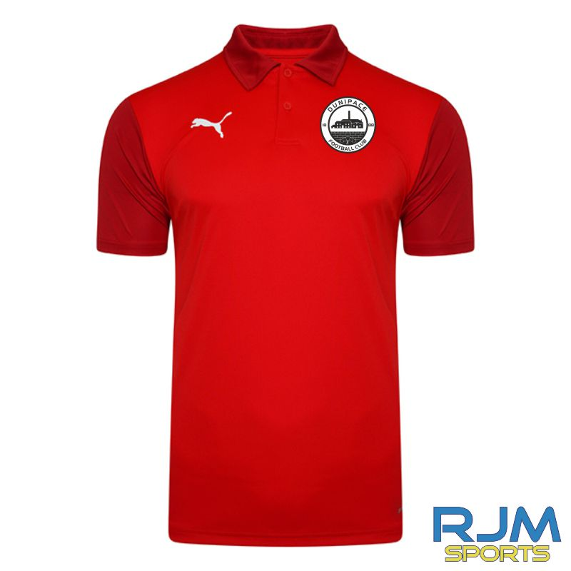 Dunipace FC Players Puma Goal Polo Red