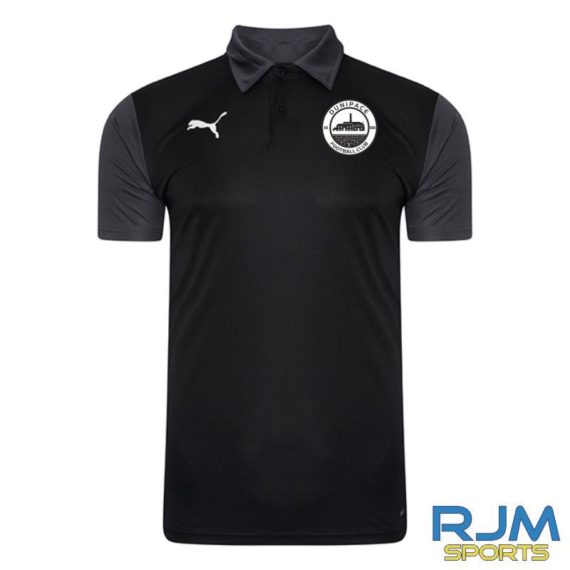 Dunipace FC Coaches Puma Goal Polo Black