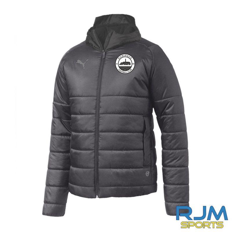 Dunipace FC Puma Team Padded Jacket Black