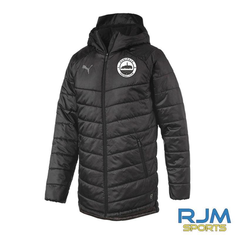 Dunipace FC Puma Team Bench Jacket Black