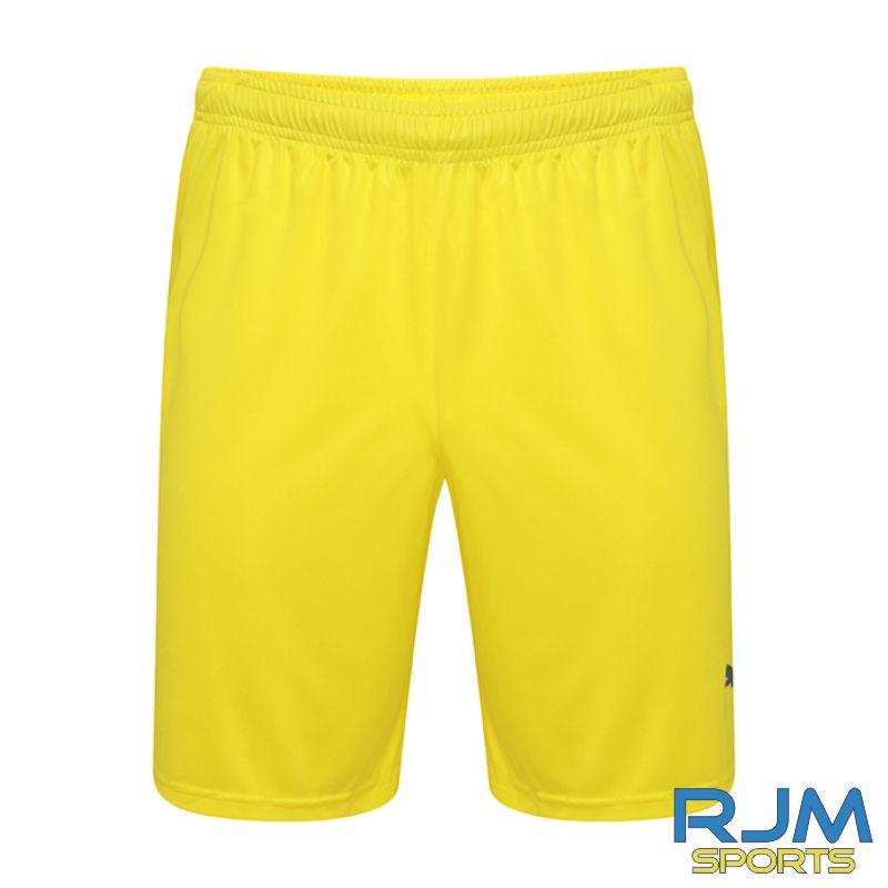 Dunipace FC Puma Liga GK Shorts Cyber Yellow/Black