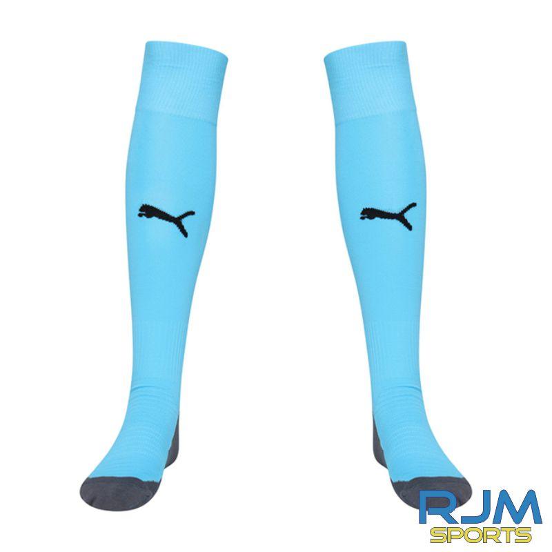Dunipace FC Puma Liga Core Socks Cyber Aquarius/Black
