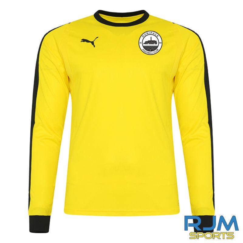 Dunipace FC Puma Liga GK Long Sleeve Shirt Cyber Yellow/Black