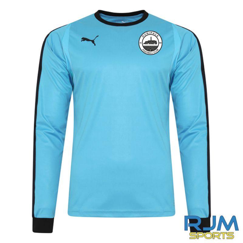 Dunipace FC Puma Liga GK Long Sleeve Shirt Cyber Aquarius/Black