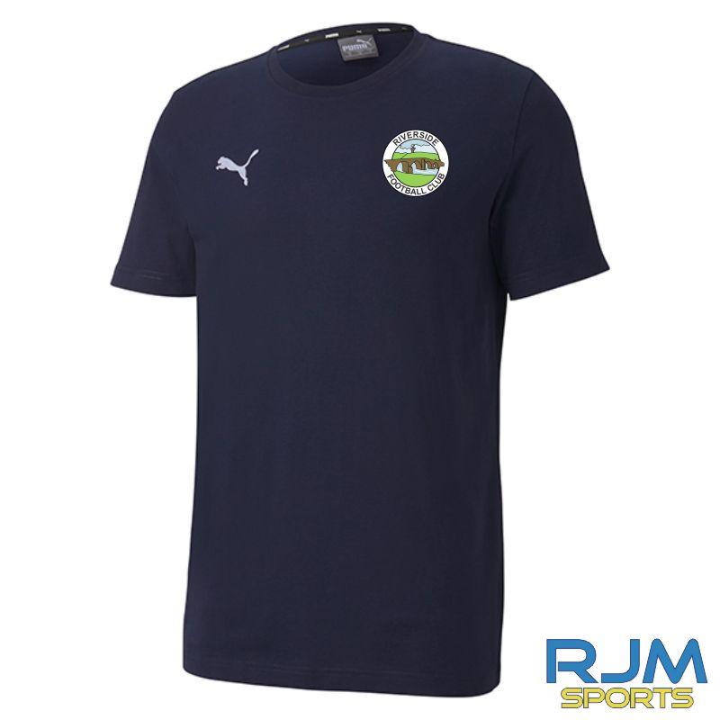 Riverside FC Puma Goal Casuals Tee Peacoat