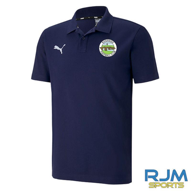 Riverside FC Puma Goal Casuals Polo Shirt Peacoat
